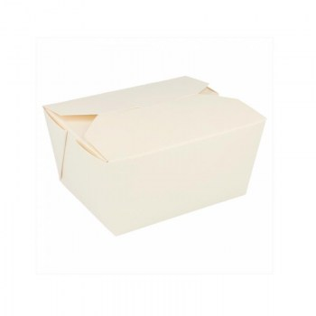 CAJA TAKE AWAY MICROONDABLE BLANCA 750 ML *50 UDS